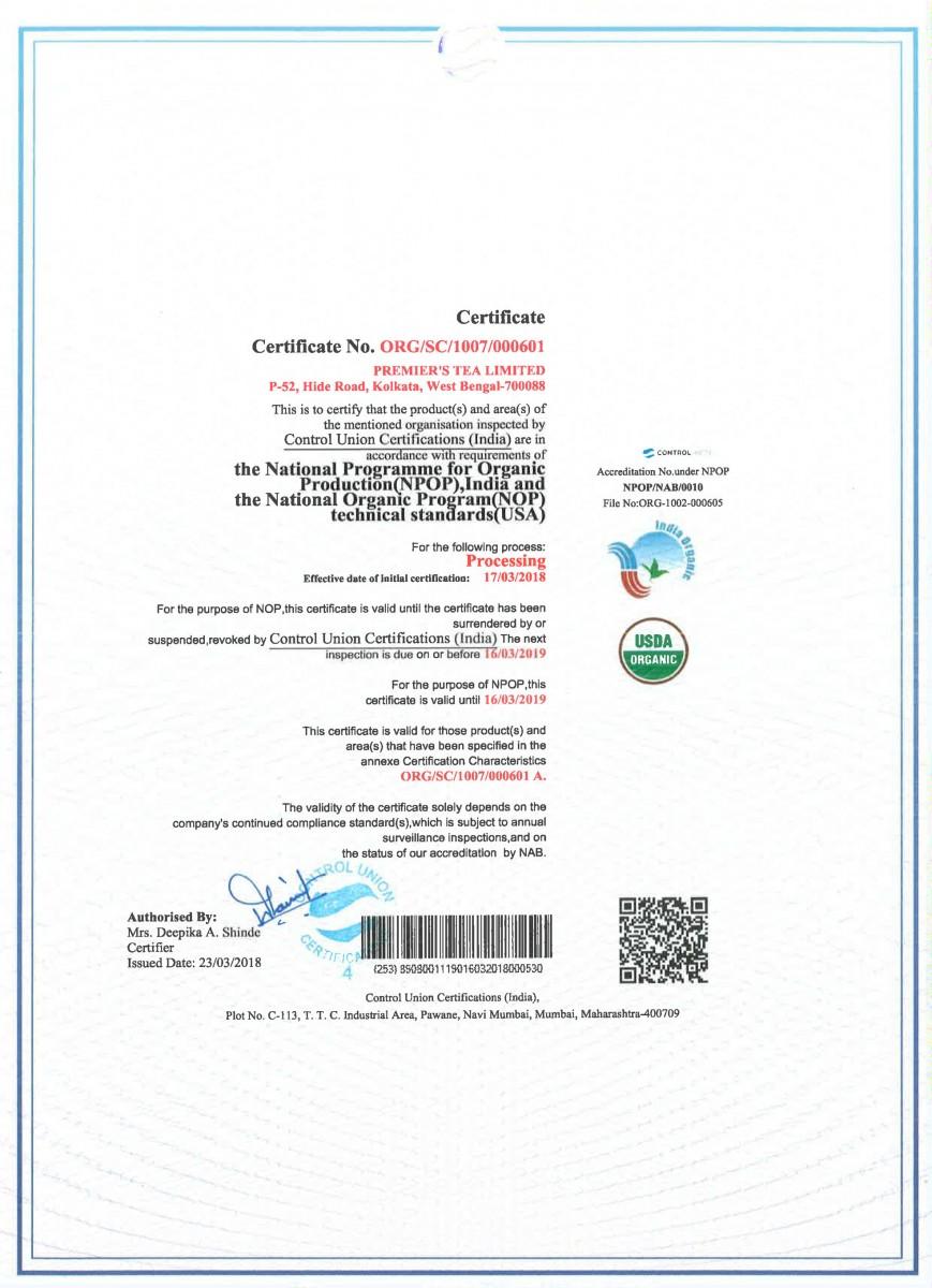 certification tea certifications